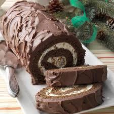 chocolate cake roll with praline filling recipe chocolate cake