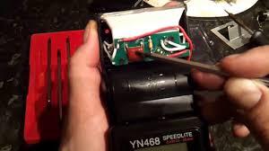 tutorial flash yongnuo 568 small tutorial how to open and fix faulty not fireing yongnuo yn