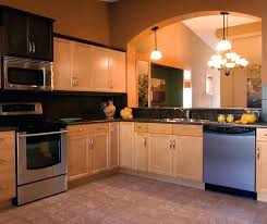 kitchen color schemes with light maple cabinets design ideas