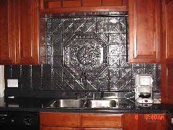 Faux Tin Metallic Look PVC Backsplash To Protect Your Bath And Kitchen - Pvc backsplash