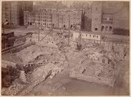 Map Copley Square Boston by Boston Public Library Copley Square During Construction Of Mckim