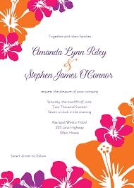 Wedding Invitation Card Template Word Hawaiian Wedding Invitation Vertabox Com