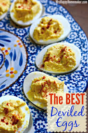 deviled egg dish the best deviled eggs mrs happy homemaker