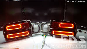 custom led tail lights datsun 280z custom sequential led halo tail lights by zleds youtube