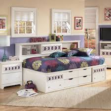 kid storage bed with bookcase headboard advice for your home