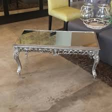 silver mirrored coffee table silver mirrored coffee table farriers décor house pinterest