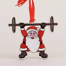 wodaments fitness ornaments work out of the day ornaments