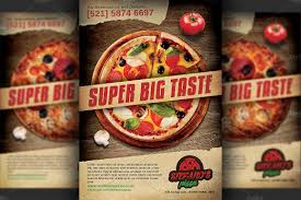 pizza restaurant advertising flyer flyer templates creative market