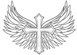 angel wing tattoo designs small how to draw a cross with wings step 6 monster pinterest