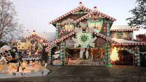 Christmas Lights House by Gingerbread House Christmas Lights Youtube