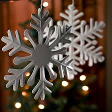 ivory metal snowflake ornament ornaments