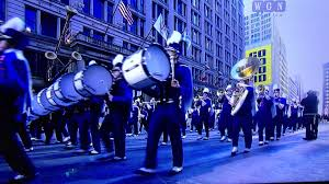 wgn thanksgiving day parade olentangy orange high marching pioneers youtube