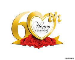 60 wedding anniversary wedding anniversary logo heart 60 stock image and royalty free
