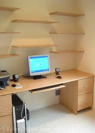 Floating Office Desk Solid Oak Home Desk Warwick Valley Ny Rylex Custom Cabinetry