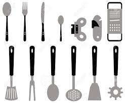 Kitchen Types by Different Types Of Cutlery For The Kitchen Created With Vectors