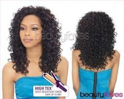 bella niger hair bella outre quick weave synthetic hair half wig long curly style