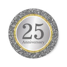 25 wedding anniversary 25th wedding anniversary stickers zazzle co uk