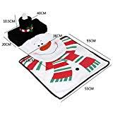 Christmas Bathroom Rugs Amazon Com Christmas Bathroom Toilet Cover And Rug Set Santa