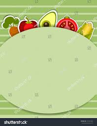 template menucardinvitation posterbanner different vegetables