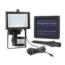 Commercial Solar Powered Flood Lights by Solar Flood Light Pir Motion Sensor Solar Powered Floodlight Le