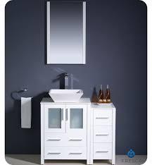 36 vessel sink vanity 36 fresca torino fvn62 2412wh vsl modern bathroom vanity w one