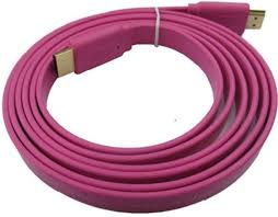 pink flat color microware hdmi male to hdmi male 1 4 v flat color 1 5 meter hdmi