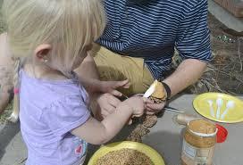 pine cone bird feeders springtime family fun building our story