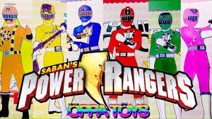 power rangers learn colors power rangers rail force coloring book