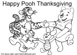 winnie pooh thanksgiving coloring pages u2013 festival collections