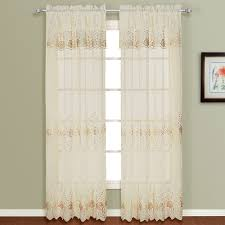 Curtains Co Amazon Com United Curtain Marianna Embroidered Sheer Window