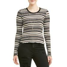 necklace shirt images No boundaries juniors 39 striped frill edge cropped t shirt w jpeg