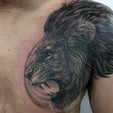 Ideas For Chest Tattoos 70 Lion Chest Tattoo Designs For Men Fierce Animal Ink Ideas