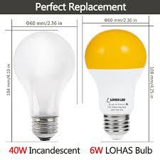 yellow led light bulbs lohas led dusk to dawn sensor light bulb 40w equivalent a19 yellow