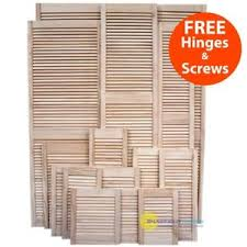 Cabinet Door Vents Single Louvre Door Vented Open Slatted Pine Wardrobe