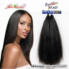 crochet black weave hair synthetic fiber pre loop yaki straight crochet hair extension