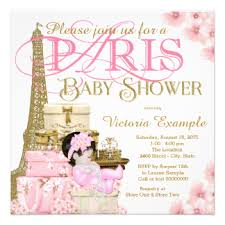 parisian baby shower baby shower invitations announcements zazzle
