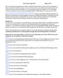 advance directive form printable advance medical directive form