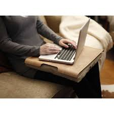 Laptop Cushion Desk by Bosign Natural Wooden Laptray With Natural Cushion Pillow Tray