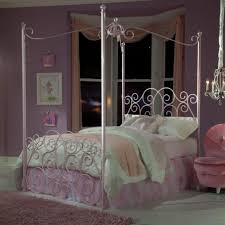 bedroom light purple elongated canopy bed for toddler girls