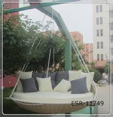 popular outdoor rattan hanging hammock swing bed buy swing bed