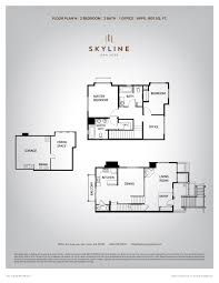 skyline 1 bedroom floor plan n skyline