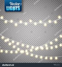 christmas lights isolated on transparent background stock vector