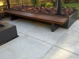 Planter Bench Seat Bench Fire Element Planter And Overhead