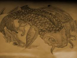 koi fish sketch by samking98 on deviantart