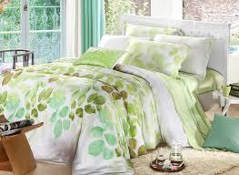 comfortable bedding comfortable elegant green leaves patterns 4 pieces tencel bedding