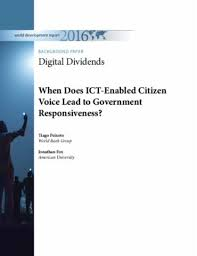 when does ict enabled citizen voice lead to government responsiveness