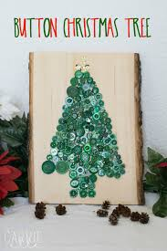 Pictures Of Simple Christmas Decorations Simple Crafts For Kids Button Christmas Tree Carrie Elle