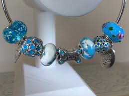 bead bangle bracelet images Magnificent blue glass beaded bangle bracelet glam r us jewelry jpg
