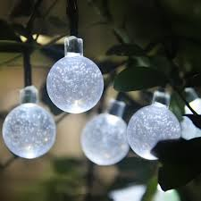 Outdoor Solar Fairy Lights by Unique Solar Globe String Lights Design Ideas Miniature Version