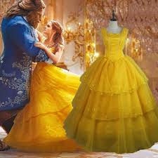 Belle Halloween Costume Women Lady Princess Belle Costume Women Beauty Beast